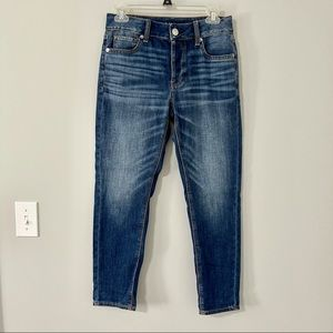 AEO High Rise Button Fly Tom Girl Jeans Stretch